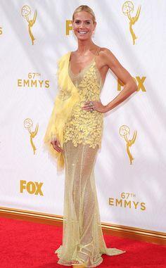 Heidi Klum in Atelier Versace at the 2015 Emmys