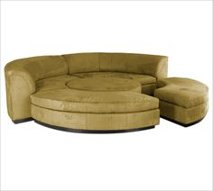 circular sectional this could work in a cream or very light beige although it really needs some tufting