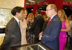 European Art Fair, Monaco, France - 19 Jul 2016  Prince Albert II of Monaco visiting the Faberge Stand  19 Jul 2016