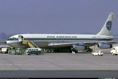 Aviation Photo Boeing - Pan American World Airways - Pan Am Boeing 707, Boeing Aircraft, Passenger Aircraft, Boeing Planes, International Airlines, Pan Am, Air Festival, Aircraft Photos, Commercial Aircraft