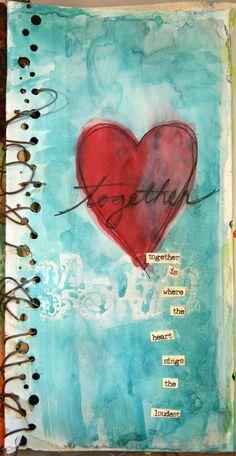 Donna downey art journal pages, junk journal, art journaling, journal cov. Heart Painting, Art, Heart Art, Collage Art, Creative Art, Book Art, Altered Art, Mixed Media Art Journaling, Art Journal Pages