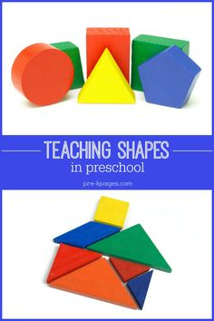 Hands on shape activities and ideas for teaching shapes. Make learning about shapes fun in your preschool, pre-k or kindergarten classroom. Free Lesson Plans, Preschool Lesson Plans, Preschool Classroom, Kindergarten Math, Classroom Activities, Classroom Ideas, Primary School, Pre School, School Days