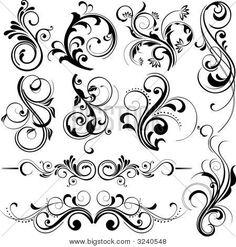 Norwegian Rosemaling details--possible tatoo ideas Rosemaling Pattern, Norwegian Rosemaling, Muster Tattoos, Web Design, Graphic Design, Vector Design, Doodles Zentangles, Tole Painting, Tattoo Inspiration