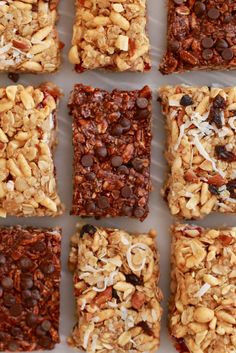 Learn how to make my homemade No Bake Granola Bars recipe and you can make a variety of flavors including Nut Raisin, PB&J and Double Chocolate! (Recipe & Video Tutorial)