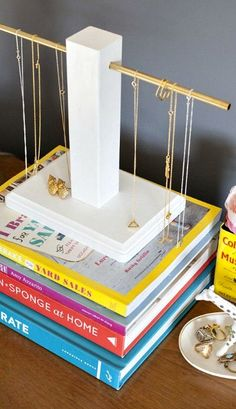DIY Wood and Brass Jewelry Holder