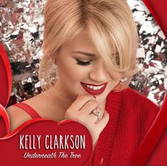 kelly clarkson wrapped in red christmas album photo