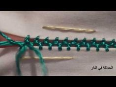 الراندة : جدييييد ملاقية الراندة سريعة العمل سهلة وأنيقة - YouTube Hand Embroidery Stitches, Hand Embroidery Designs, Embroidery Applique, Embroidery Patterns, Cross Stitch Cushion, Heirloom Sewing, Temple Jewellery, Henna Designs, Sewing Hacks
