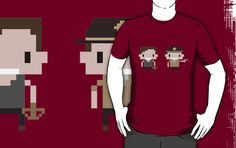 Pixely Rick and Daryl Shirt