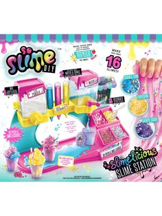 Superb So Slime DIY Slimelicious Station Now at Smyths Toys UK. Shop for Slime At Great Prices. Slime Toy, Diy Slime, Chocolate Slime, Straw Decorations, Fantasias Halloween, Toys Uk, Slime Recipe, Lol Dolls, Diy Toys
