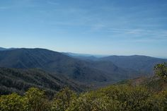 View from Bull Head Trail up to Mt. LeConte, GSMNP