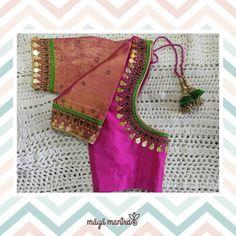 Best Blouse Designs, Bridal Blouse Designs, Blouse Neck Designs, Hand Work Blouse Design, Stylish Blouse Design, South Indian Bride Saree, Maggam Works, Embroidered Blouse, Boat Neck
