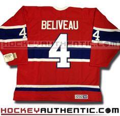 Jean beliveau montreal canadiens ccm vintage 1968 replica nhl jersey d470397da