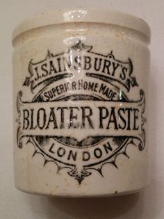 Antique Stoneware Advertising J. Sainsbury's Bloater Paste.