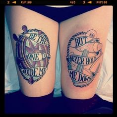 Be the one to guide me, but never hold me down. #anchor #nautical #tattoo