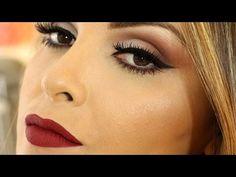 Maquiagem com sombras e batom Dailus color - YouTube