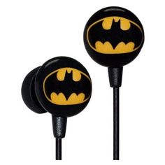 iHip DCF10163BM Classic Batman Logo Hi-Fi Noise Reducing Ear Buds (Ear ❤ liked on Polyvore featuring accessories, tech accessories and earphones earbuds