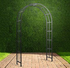 "PALLADIAN ARCH $395   Special $235   Inspired by the 18th-century neoclassical Italian architecture of Palladio, our iron arch sends roses and flowering vines climbing skyward.  Show product details... Dimensions 52½""W x 14""D x 88""H Weight: 69.5 lbs."