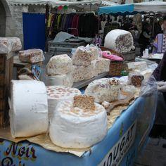 Aix en Provence, France Cheese vendor at town market