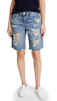 BLANK DENIM . #blankdenim #cloth # Kids Shorts, Denim Shorts, Blank Denim, Distressed Shorts, Blank Nyc, Wild Child, Denim Fashion, Bermuda Shorts, Short Shorts