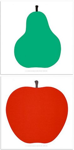 I have the apple print above my bed. It's the most perfect shape for an apple.   Enzo Mari, 1963