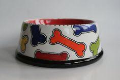 Personalized Dog Bowl (large) on Etsy, $40.00