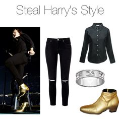 A fashion look from April 2015 featuring wide-band rings. Browse and shop related looks. Wide Band Rings, Harry Styles, Fashion Looks, Polyvore, Outfits, Shopping, Tall Clothing, Clothing, Style
