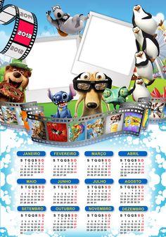 Calendario 2013 Cartoon web designer   styles  frames  molduras