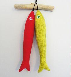 Mobile sardines à la lavande & bois flotté : Accessoires de maison par be-sardine