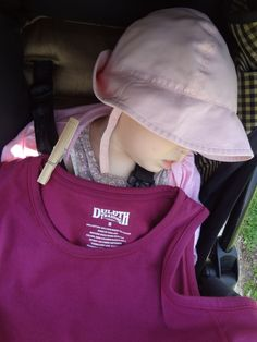 #SummerSolved    Cover a sleeping baby with SPF shirt like this one from Duluth Trading Co