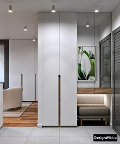 Hallway Interior: Break the Conformity With These Concepts - - Home Entrance Decor, House Entrance, Entryway Decor, Wardrobe Room, Wardrobe Design Bedroom, Home Design Decor, Home Interior Design, House Design, Narrow Hallway Decorating