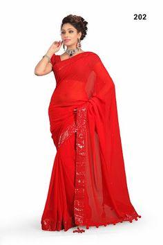 Kareena Red Saree | Special Price: Rs. 1,700.00