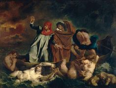 Dante et Virgile aux enfers, par Eugène Delacroix
