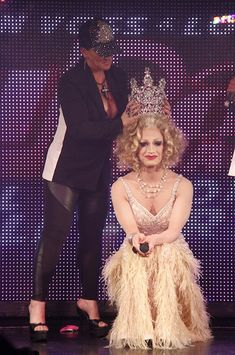 Shot of Jinkx Monsoon being crowned at the RuPaul's Drag Race Season Finale.  Jinkx Monsoon is just AWESOME!  Such a talent, it's no wonder why she's sweeping off Broadway the way she is.  I'm sure she'll be on Broadway in no time at all.