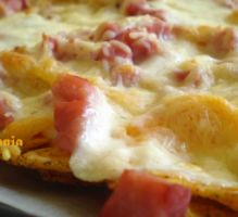 Recette - Nachos jambon-fromage - Proposée par 750 grammes http://www.750g.com/nachos-jambon-fromage-rp36764.htm?version_imprimable=on&resume=on&image=on&conseils=on