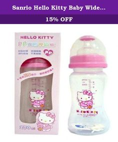 Sanrio Hello Kitty Baby Wideneck Pp Feeding Bottle 9.1oz. / 270ml BPA Free. BPA Free Bottle Authentic Sanrio Licensed Product Made in Taiwan.