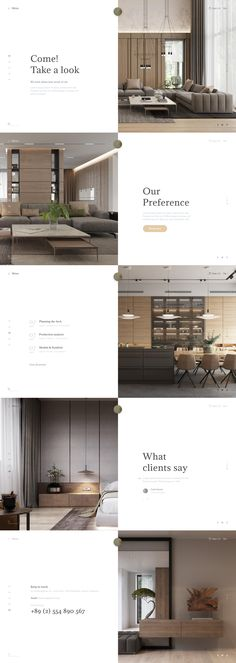 Modern wooden furniture on Behance