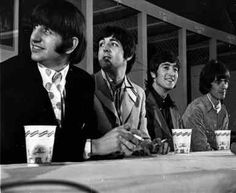 The Beatles at a press conference in Washington, DC, 15 August 1966