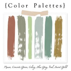Great palette, you can use these colors for just about any craft or room color.
