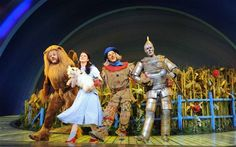 David Ganly (Lion) Danielle Hope (Dorothy) Paul Keating (Scarecrow) Edward Baker-Duly (Tin Man) in Andrew Lloyd Webber's The Wizard of Oz Credit: Alastair Muir Wizard Of Oz Story, Wizard Of Oz Musical, Musical Theatre, Sunday Times Rich List, Dorothy Gale, Theatre Reviews, Broadway Plays, Land Of Oz, The Great White