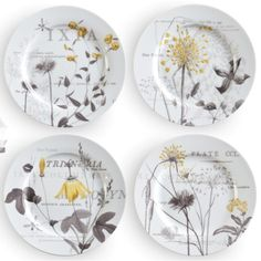 Rosanna Les Fleurs Du Bois Plates (Set of 4)  SKU# 81503  By:   Rosanna