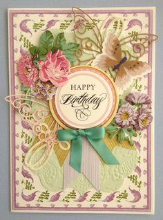 "ANNA GRIFFIN PAPERCRAFTS ""HAPPY BIRTHDAY"" HANDMADE BIRTHDAY GREETING CARD #Handmade #BirthdayAdult"