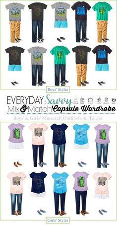 Cute Minecraft clothes for girls and boys. Lots of different Minecraft t-shirts with great graphics. Fun for boys and girls.