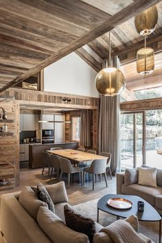 visit our website for the latest home decor trends . Modern Cabin Interior, Chalet Interior, Cabin Homes, Log Homes, Chalet Design, Cabin Interiors, My New Room, Home Living Room, Sweet Home