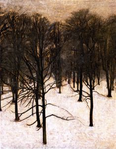 Vilhelm Hammershoi, Landscape in the Snow 1895-1896