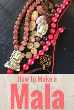 How to Make a Mala: knotting and making a tassel