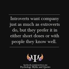 Introverts do like company #misunderstood