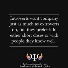 Introverts do like company #misunderstood