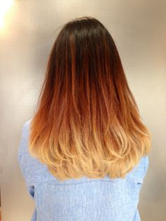Mechas Californianas  Degrade de cobrizos a Rubio