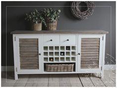 Maatwerk / dressoir / old wood louvre / WINE CABINET