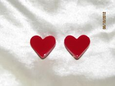 Amazing VINTAGE Moschino Red Heart Earrings